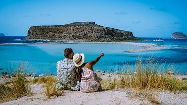 BCrete,Greece,,Balos,Lagoon,On,Crete,Island,,Greece.,Tourists,Relax