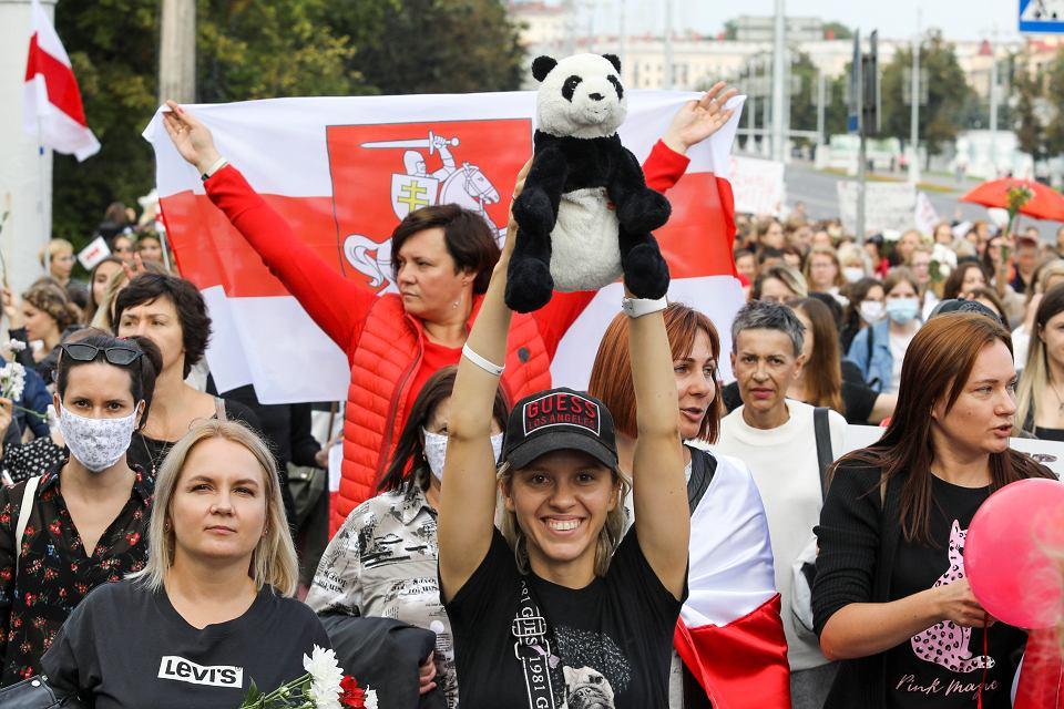 5.09.2020, Mińsk, manifestacja przeciwko Łukaszence
