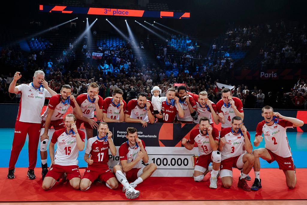 28.09.2019, Paryż, reprezentacja Polski pokonała Francję w meczu o brąz Mistrzostwa Europy w siatkówce.