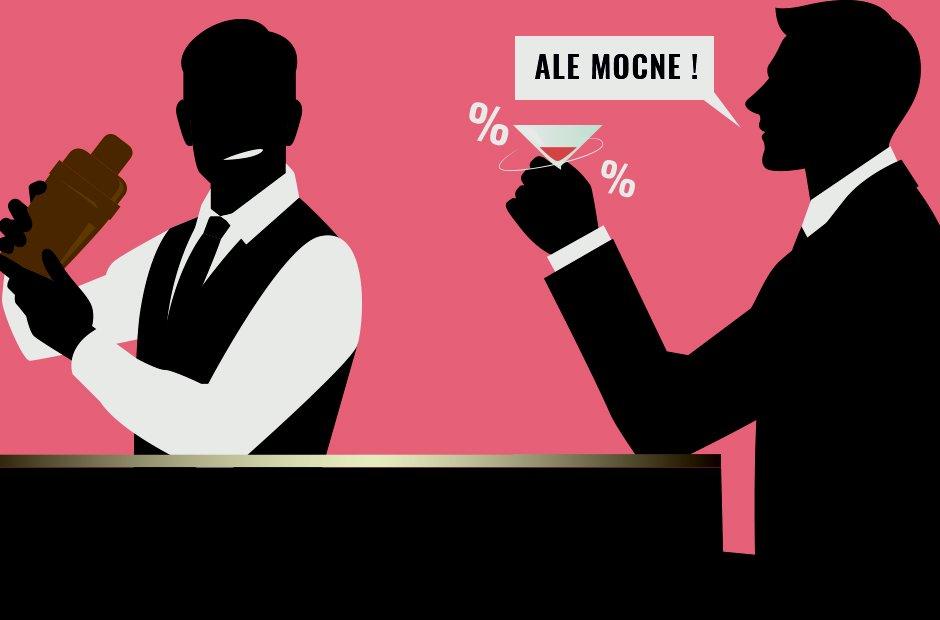 Barman umawia się z klientem