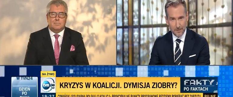 """Czarnecki przepytywany przez Kraśkę. """"W menu był Ziobro?"""" """"Nie!"""""""