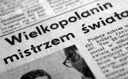czołówki gazet po sukcesie Janusza Kowalskiego