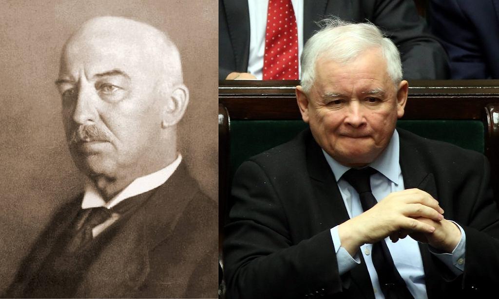 Fot. Prezydent Gabriel Narutowicz i Jarosław Kaczyński. Czy rocznica śmierci prezydenta będzie pretekstem do walki z polityką Kaczyńskiego?