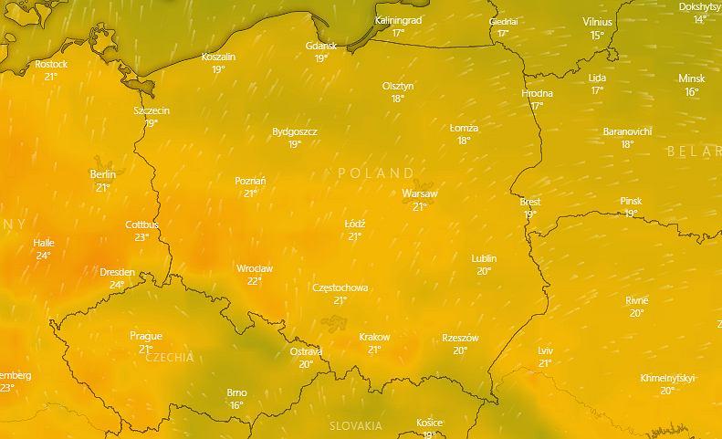 Prognoza pogody. Synoptycy przewidują ocieplenie (zdjęcie ilustracyjne)