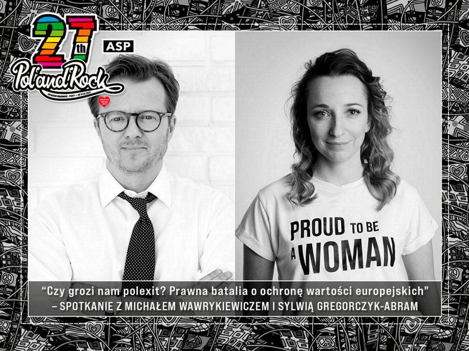 Sylwia Gregorczyk-Abram i Michał Wawrykiewicz na Pol'and'Rock 2021