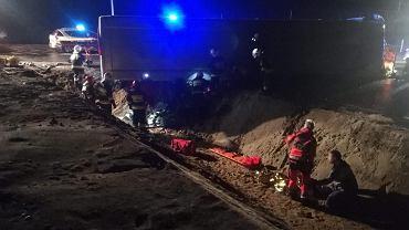 Polkowice. Wypadek autokaru na trasie S3