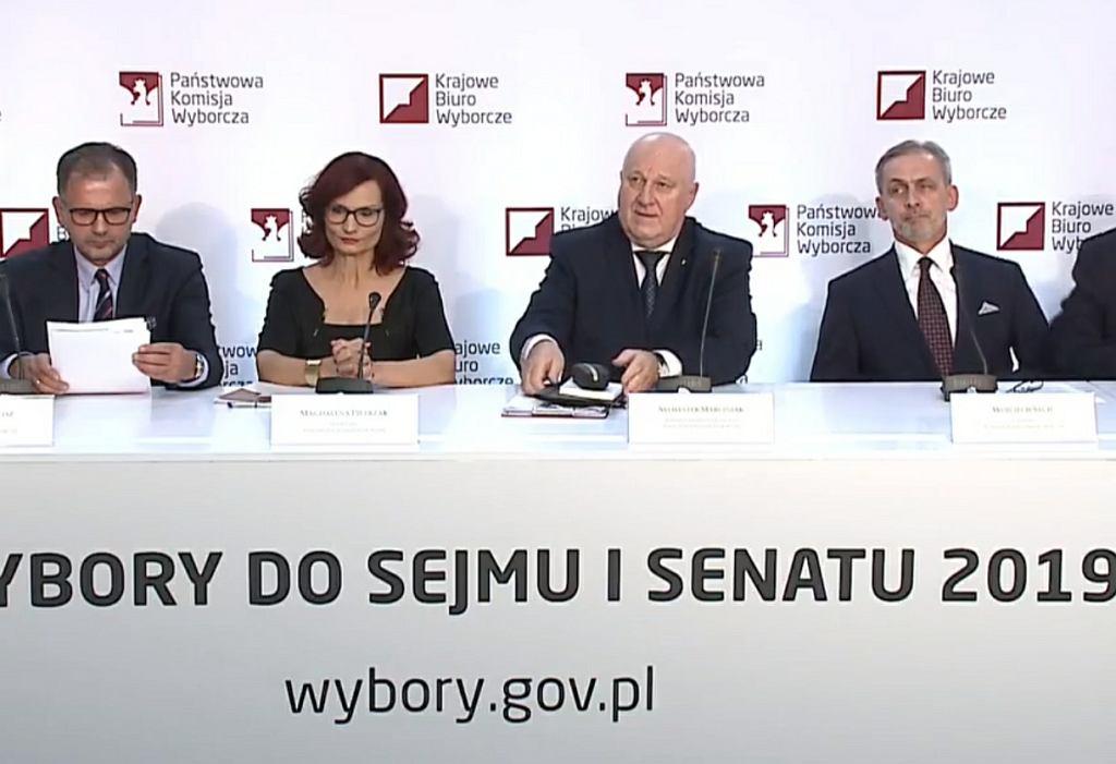 Wybory parlamentarne 2019. Konferencja PKW o godz. 22