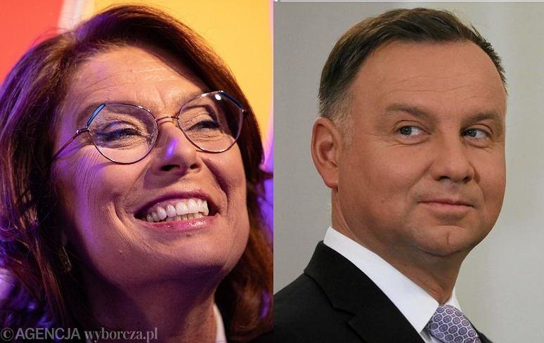 Małgorzata Kidawa-Błońska i Andrzej Duda