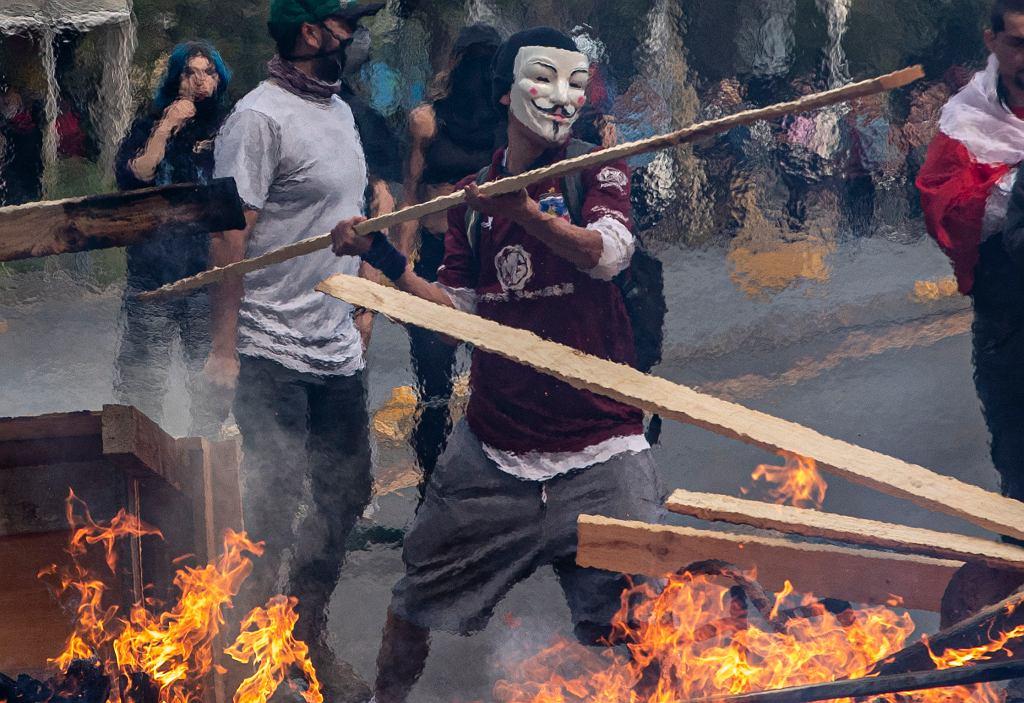 APTOPIX Chile Subway Protest