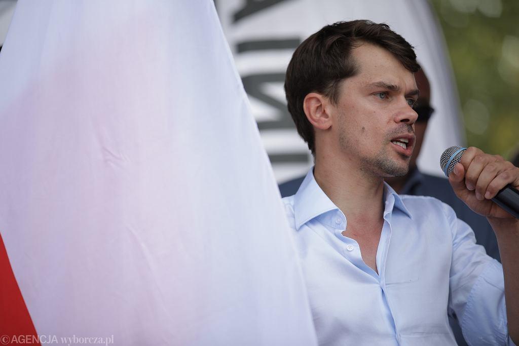Protest rolników - lider AGROunii Michał Kołodziejczak