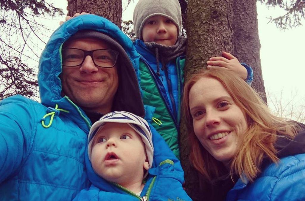 Maciej Stuhr z rodziną