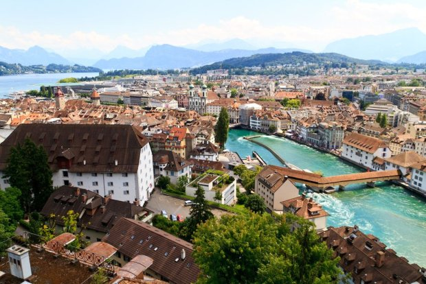 Widok na most w Lucernie/ fot. Shutterstock