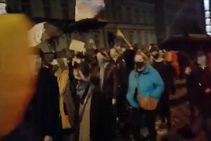 Protest po orzeczeniu Trybunału Konstytucyjnego w sprawie aborcji