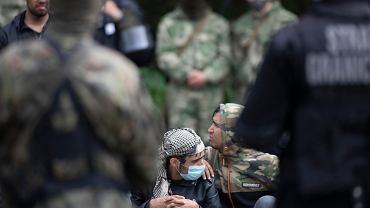 Migranci na granicy polsko-białoruskiej w Usnarzu Górnym