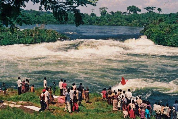 Największa kajakarska widownia świata. Wodospady Owena, Uganda, 1993 rok
