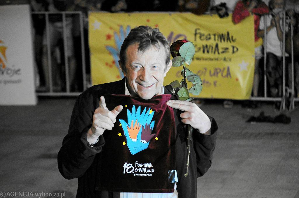 Edward Linde - Lubaszenko podczas gali odciśnięcia dłoni w alei gwiazd w Międzyzdrojach w 2013 roku
