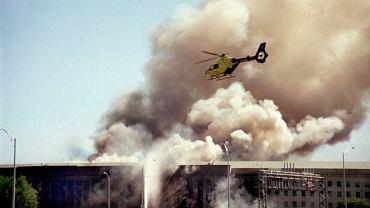 Pentagon po ataku terrorystycznym, 11 września 2001 r.
