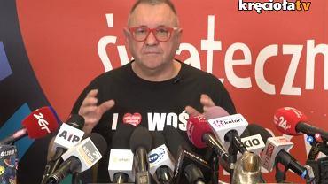 Jerzy Owsiak podczas konferencji prasowej
