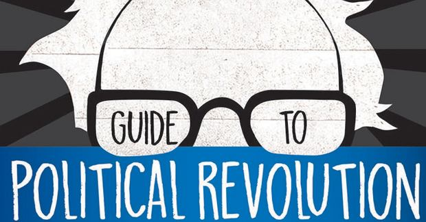 Okładka amerykańskiego wydania książki 'Guide to Political Revolution'