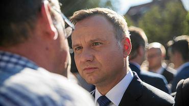 Andrzej Duda gościł w poniedziałek na Pomorzu.