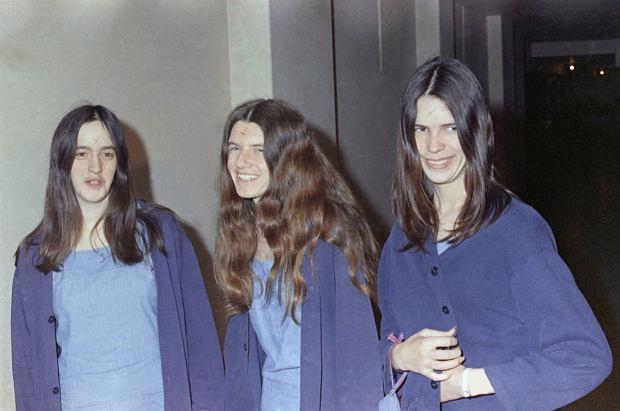 Grupa Charlesa Mansona, od lewej: Susan Atkins, Patricia Krenwinkel i Leslie van Houten