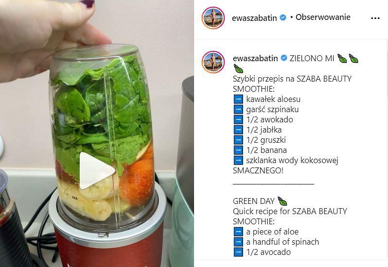 Ewa Szabatin - koktajl dla urody