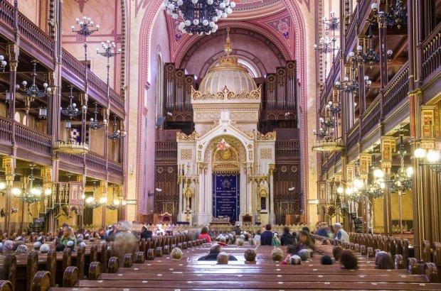 Wnętrze Wielkiej Synagogi w Budapeszcie