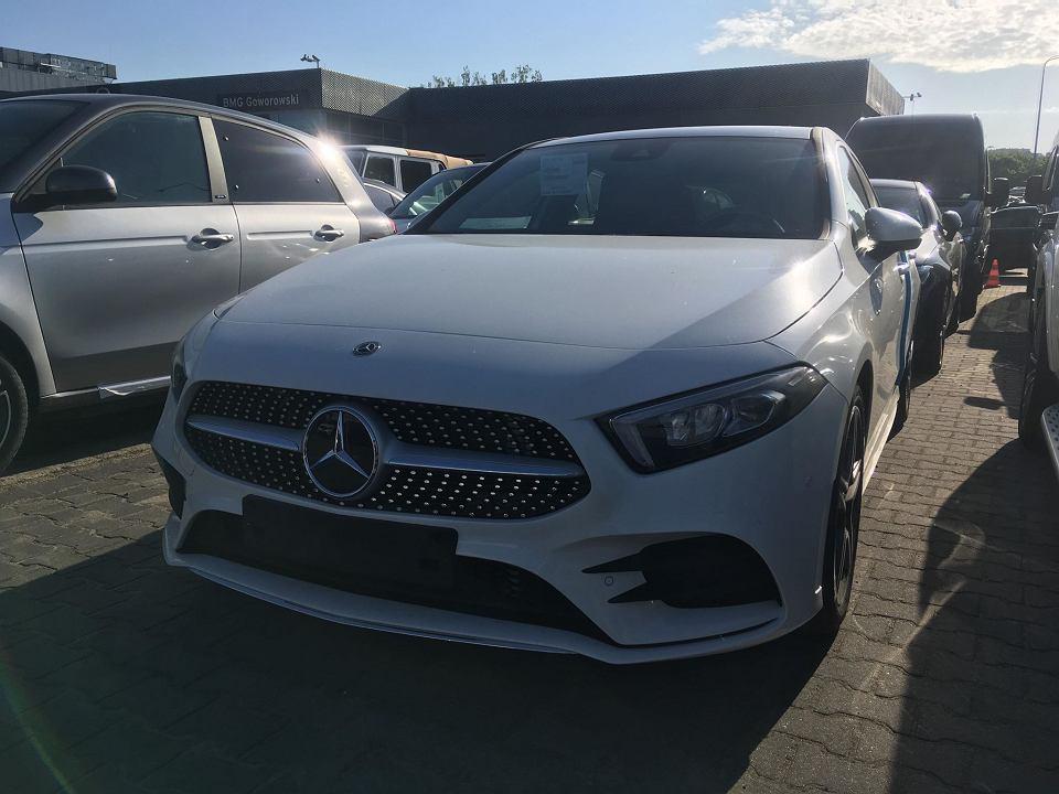 Nowy Mercedes klasy A oczekujący na Dni Otwarte w BMG Goworowski