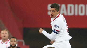 Robert Lewandowski w meczu Polska - Holandia