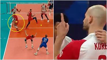 Bartosz Kurek podczas meczu Polska - Rosja