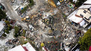 Wybuch gazu w Szczyrku. Strażacy przeszukują ruiny domu