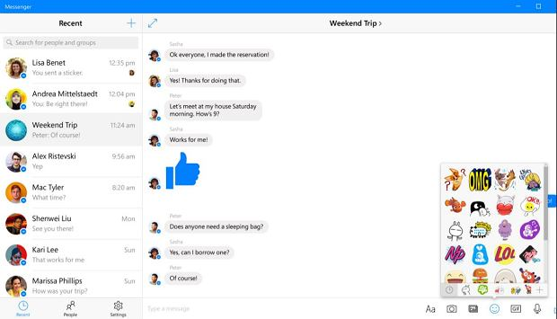Messenger na Windows 10