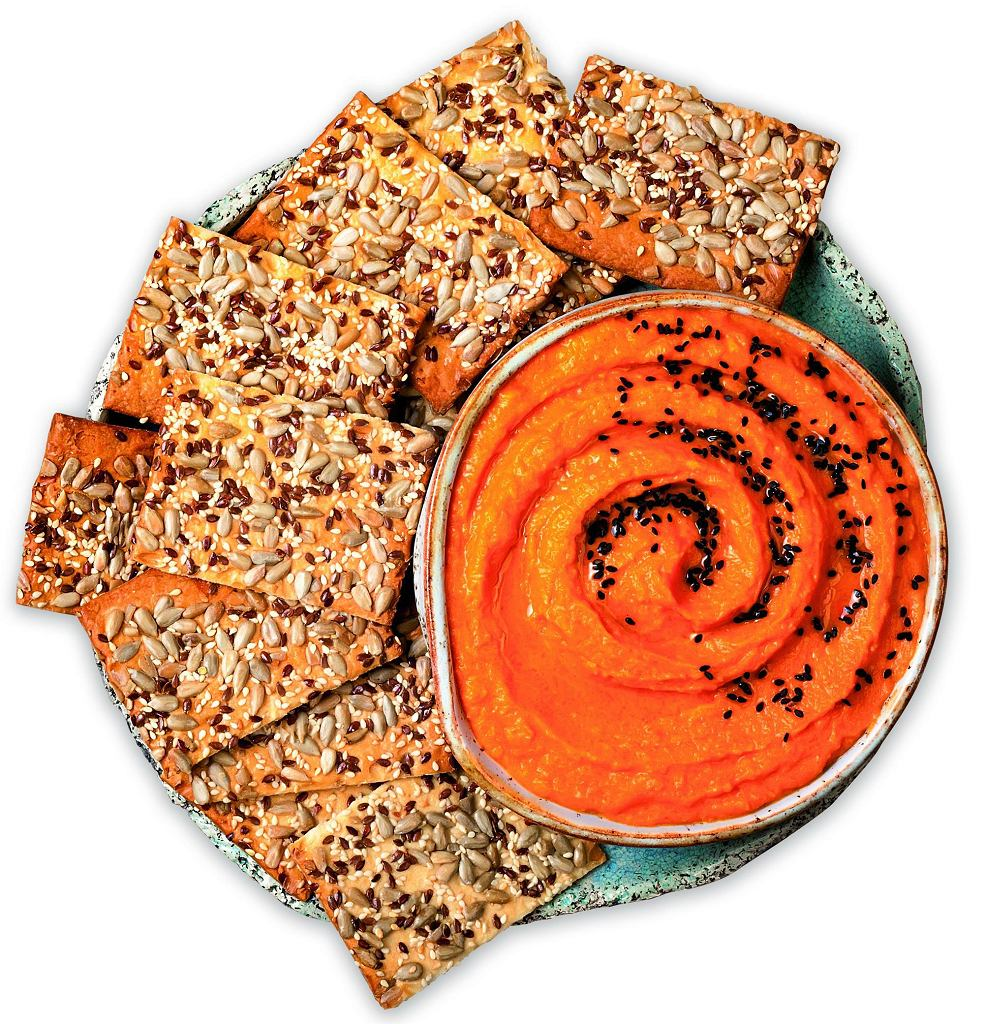 Pasta dyniowa z dodatkiem gotowanych warzyw z wywaru