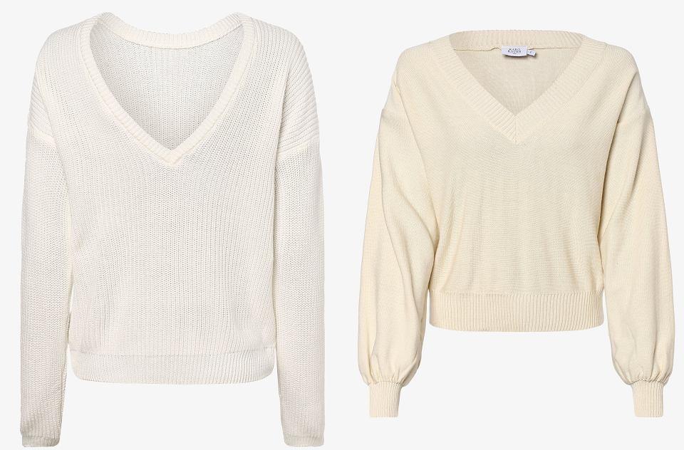 Swetry w pudrowych odcieniach