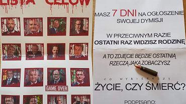 Prezydent Poznania Jacek Jaśkowiak opublikował zdjęcie listu z groźbami
