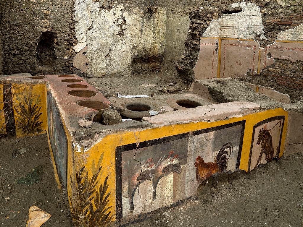 W Pompejach odkryto starożytną karczmę z doskonale zachowanymi resztkami potraw