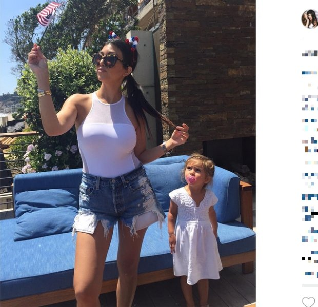 Kourtney Kardashian z córką
