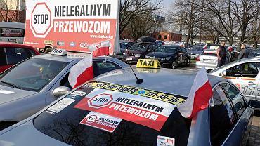 Protest taksówkarzy w Warszawie, 9 kwietnia 2019