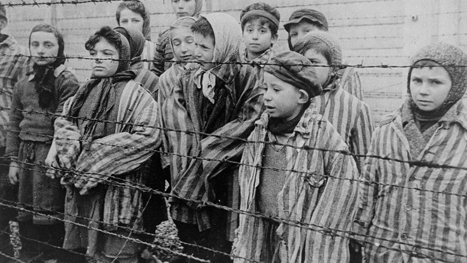 Dzieci z obozu w Auschwitz-Birkenau