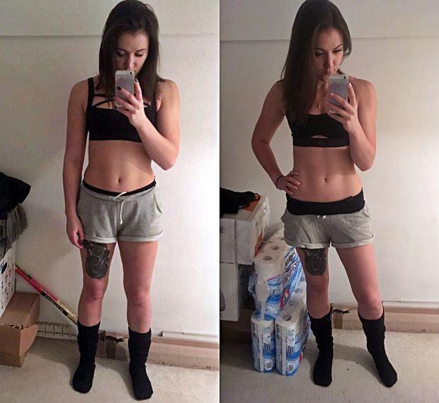 Kamila przed i po programem '28 dni Bikini Body'