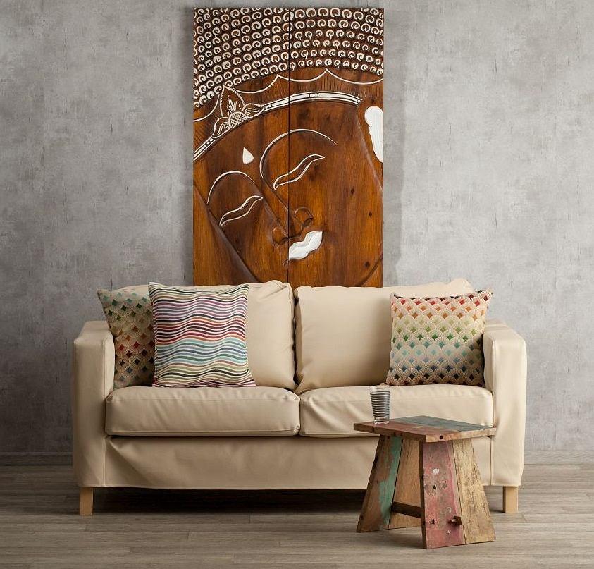 Styl etno uwielbia naturalne materiały, beże, brązy i drewno