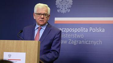 Jacek Czaputowicz, minister spraw zagranicznych.