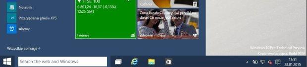 Pasek wyszukiwania w Windows 10