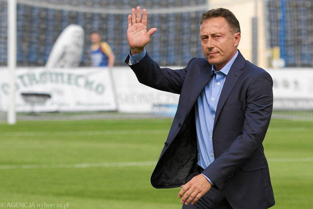 Trener Korony Kielce Ryszard Tarasiewicz