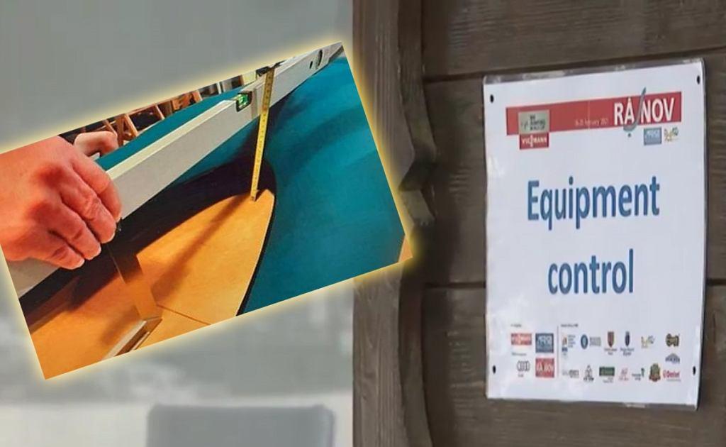 Kontrola sprzętu w skokach narciarskich