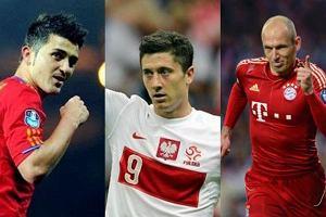 David Villa, Robert Lewandowski, Arjen Robben