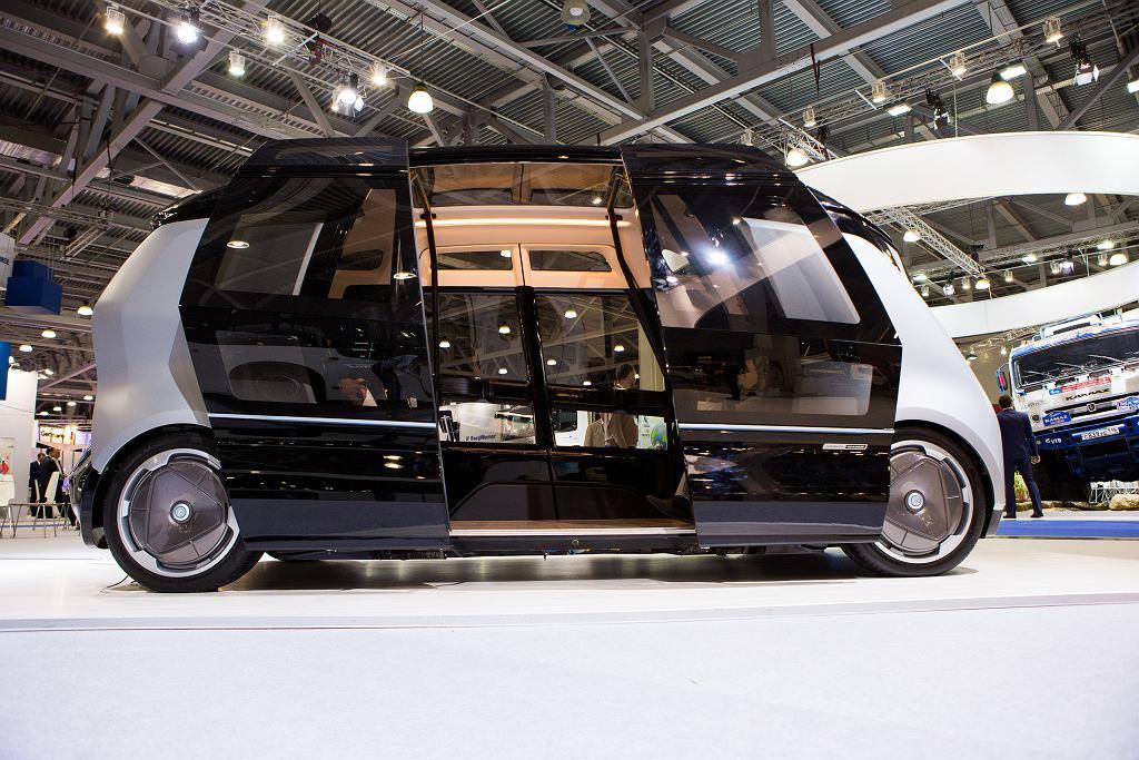 Autonomiczny autobus zaprezentowany na moskiewskich targach Comtransexpo 2017