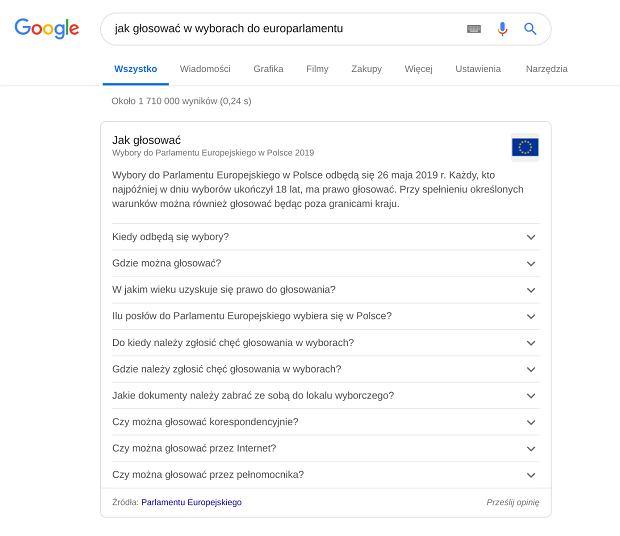 Jak głosować w Google