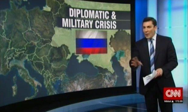 Telewizja CNN pokazała mapę, wg której Rosja zajęła całą Ukrainę