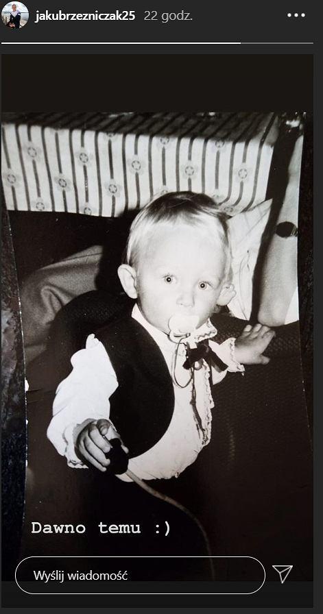 Jakub Rzeźniczak opublikował zdjęcie z dzieciństwa